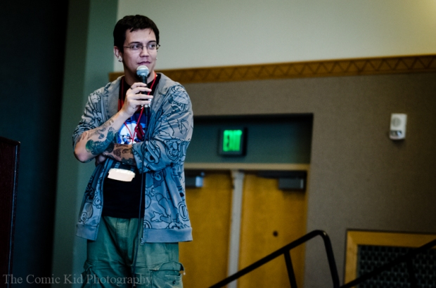 Jon Sakura, President of gamers anonymous during his Cyber Zone panel.